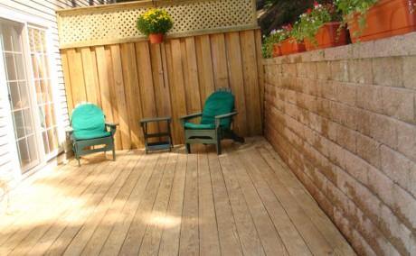 Custom Cedar Fence with Privacy Lattice Top