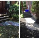 before & after photos of walkway