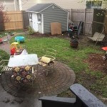 backyard and shed