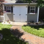 walkway and shed