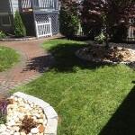 walkway in backyard